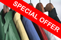 Special Offer; five shirts laundered and ironed for only £10